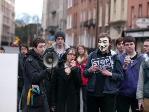 ACTA Protest on the streets of Dublin